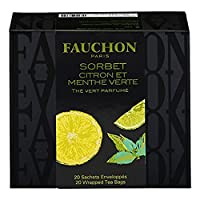 [ フォション ]FAUCHON - Lemon and Spearmint Green tea - レモンとスペアミントグリーンティー- 20ティーバッグ - 並行輸入品