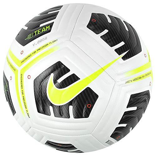 Nike Academy-Team, Calcio Palla Unisex Adulto, Bianco/Nero/Volt, 5