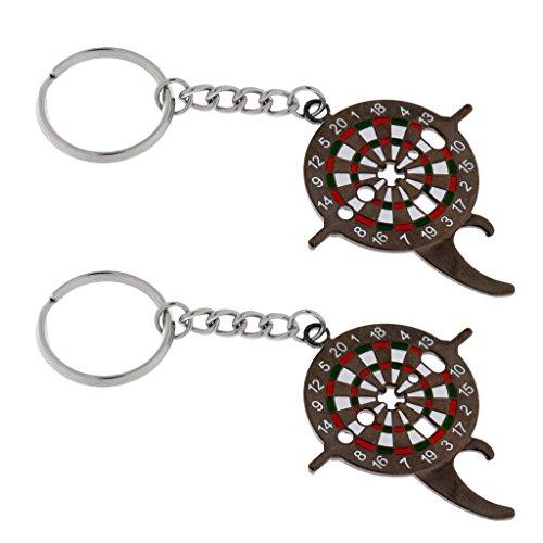Baoblaze 2pcs Dart-Universalwerkzeug Flaschenöffner mit Schlüsselring, Dart Schlüsselanhänger