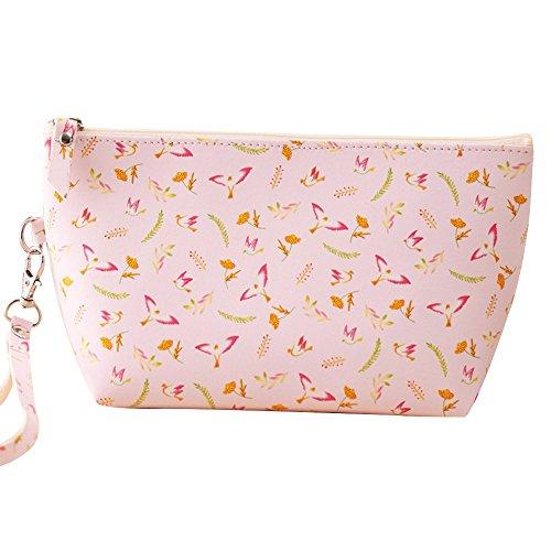 Contever Portatile PU Sacchetto Lavata Cosmetic Borsa da Toilette Borsetta da Viaggio Cosmetico Wash Bag per le Donne la Signora Girl Dimensioni: 13 cm x 22 centimetri