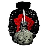 SONGWEOK Moda Hombre Personalidad Creativo 3D Impreso suéter Tendencia Sudadera Suelta