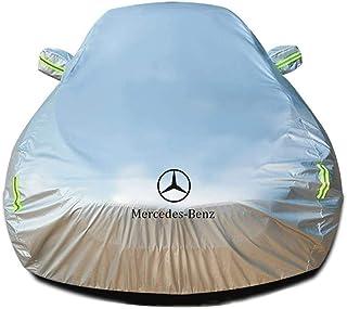 QDDP Autoabdeckung Kompatibel mit Mercedes Benz A Class A220 CDI AMG Night Edition, Wetterfeste Wasserdicht Schneesicher Staubdicht Anti UV Atmungsaktiv Außengebrauch Vollgarage Autoabdeckplane