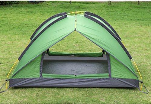 T/g/y/h Y/w/p/e Tentes antipluie Ultra-légères for Camper, Tente portative de Plage de Chambre Noire extérieure à Deux étages for 2 à 3 Personnes (Color : Green)