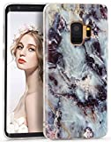 Imikoko Galaxy S9 Case Marble, Samsung Galaxy S9 Glossy Slim Fit Soft TPU Case Cover Rubber Silicone Skin Bumper Shockproof Protective Case for Samsung Galaxy S9 5.8 Inch