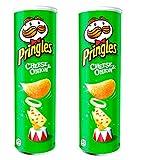 Pringles picante crema agria y cebolla Snack, 165 g, paquete de 2