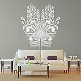 Flor de la Mano de Yoga, decoración de Papel Tapiz de Bricolaje de Arte, Adhesivos de Pared a Prueba de Agua DIY extraíble -80x128cm