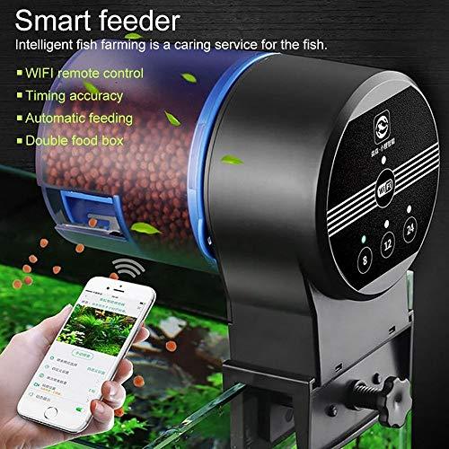 ksjdjok Alimentador de Peces WiFi Programable Acuario Dispensador automático de Comida de Peces para el Tanque de Peces Alimentador de Temporizador electrónico