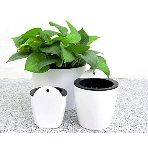anruo 3-delige kunststof kunstmatige bloempot met S-vormige haak muurbloempot Familie balkon tuindecoratie (klein + medium + groot | Bloempotten en plantenbakken