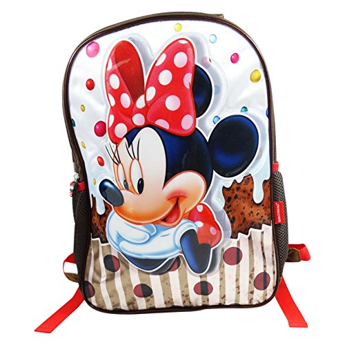 DISNEY Minnie Muffin - Zaino Double Image per Bambine - Spallacci imbottiti - Colore: Multicolor