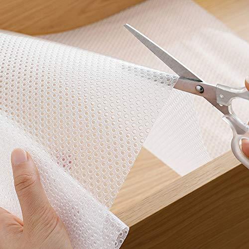 PROHOUS Antirutschmatte 45 x 200CM Eva Schubladenmatte rutschfeste Schrankmatte für Küche Transparente Schrankmatte Wasserfest Kühlschrankmatte für Kühlschranke Schubladen Regale