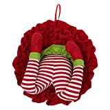 ABOOFAN Guirnalda de Patas de Elfo de Navidad Guirnalda de Ladron de Navidad Puerta Colgante Adornos de Pierna de Elfo Guirnalda de Felpa para Ventana de Pared ( Color Aleatorio )