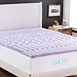 LUCID 2 Inch 5 Zone Lavender Memory Foam Mattress Topper - King