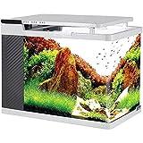 MUMUCW Los Kits de Arranque con Sistema de filtración de Cristal HD Bomba de Agua de iluminación LED Peces de Acuario Tanque silencioso