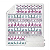 Xc 毛布/クリスマスブランケット、デジタルプリントソファ毛布快適なコットンダブルレイヤー子供のための毛布クリスマスギフトを厚く (色 : D, サイズ : 150cm*200cm)