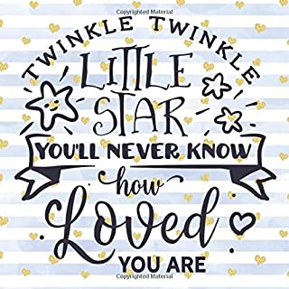 Twinkle Twinkle Little Star You'll Never Know How Loved You Are: Pretty Blue & Gold Hearts Baby Shower Guest Book | With Baby Shower Games + Photo ... Special Day! (Baby Shower Gifts for Boys)