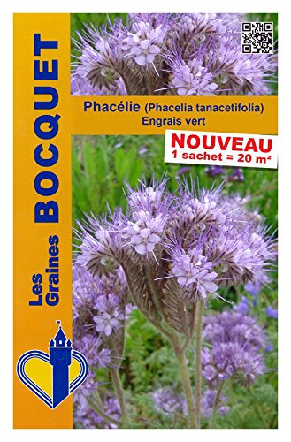 Les Graines Bocquet - Graines De Phacélie (Phacelia Tanacetifolia) - Graines Potagères À Semer - Sachet De 100Grammes