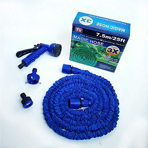 Expandable Tuinslang Kit, 25FT Rekbaar Waterslang Met 7 Functie Pijp Van De Nevel, Lichtgewicht Zuigslang Voor Tuin Gazon Car Watering Planten