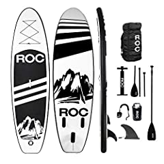 🏄 Spring Time Sale!! ROC Paddle Boards premium inflatable paddle board is made of the highest quality military grade material. We provide the most durable lightweight board on the market, using the same materials as boards costing $699. 🏄Our extra wi...