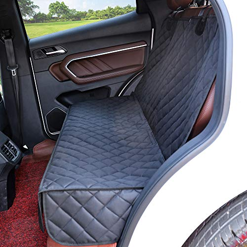 Eneston Dog Car Seat Cover Protector Waterproof Pet Back Seat Covers Nonslip Bench Seat Cover for Dogs Compatible for Middle Armrest Fits Most Cars, Trucks and SUVs