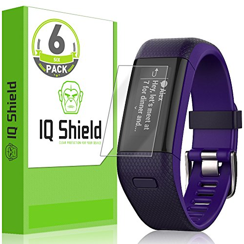 IQ Shield Screen Protector Compatible with Garmin Vivosmart HR+ (Garmin Approach X40)(6-Pack) Anti-Bubble Clear Film