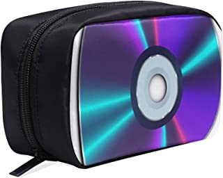 Colourful Refraction Effects On Dvds Portable Travel Makeup Cosmetic Bags Organizer Multifunction Case Small Toiletry Bags For Women And Men Brushes Case