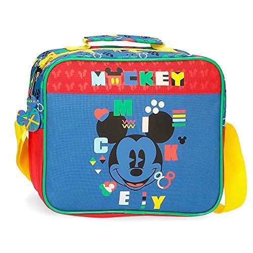 Disney Mickey Shape Shifter Neceser Adaptable con Bandolera Multicolor 23x20x9 cms Poliéster