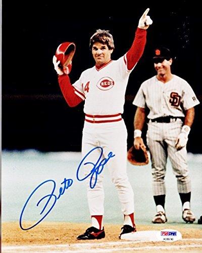 Pete Rose (Cincinnati Reds) Signed Autographed 8x10 Photo (PSA/DNA COA)