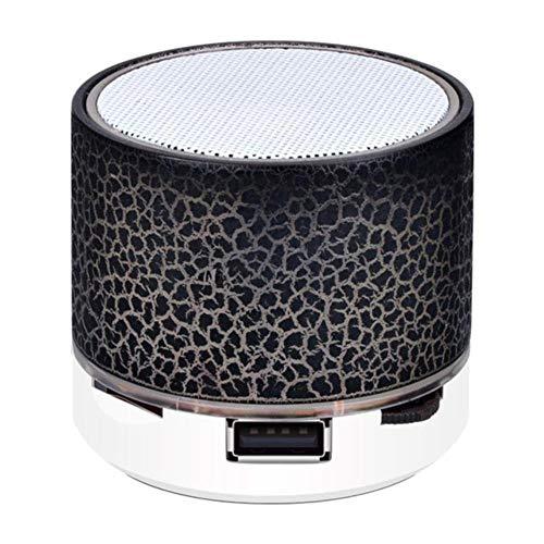 Bluetooth Color ligereza pequeña grieta inalámbrica de la Tarjeta de Sonido del subwoofer Audio del teléfono de Altavoz TF/U Disco/AUX,Negro
