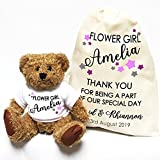 Personalised wedding teddy bear Little Stars Flower Girl and Gift Bag