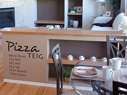 GRAZDesign Muurtattoo keuken pizza deeg, keukendecoratie decoratieve folie recept 43x40cm 958 Baby Doll