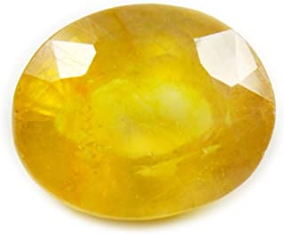 CaratYogi Natural Yellow Sapphire Gemstone 3 Carat September Birthstone Oval Cut Stone for Jewelry Making