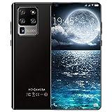 ZZYH Teléfono Móvil Libre, Cámara Frontal 16MP + Cámara Trasera 32MP, 7.2' HD+ Screen, 12GB+512GB, Batería 5600mAh, Smartphone Libre 4G, Dual Sim/Face ID, Resolución HD De 1440x3040