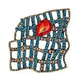 SOIMISS Broche Retro de Piedras Preciosas Huecas para Boda Ramo de Novia Broche de Solapa Pin Imitación de Joyas de Cristal Ramillete para Mujer Chica Vestido Sombrero Decoración