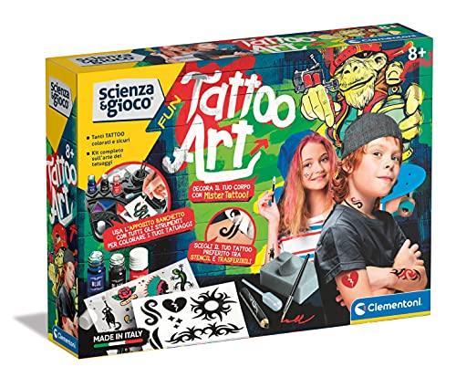Clementoni- Scienza Fun-Tattoo Art, Gioco Fabbrica Tatuaggi,...