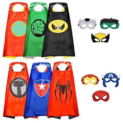 Easony Spielzeug 3 4 5 6-10 Jahren Junge,Superhelden Kostüm für Kinder Geschenk Junge 3 4 5 6-10 Jahre Cosplay Kostüm für Junge 3-12 Jahre Halloween Maske Superhelden Spielzeug