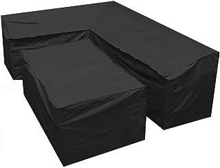 RASHION Garden Furniture Covers, Heavy Duty Oxford Polyester Garden Rattan Corner Furniture Cover, Waterproof and Windproo...