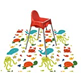 Product Image of the Splat Mat for Under Highchair/Arts/Crafts, WOMUMON Baby Reusable Waterproof...