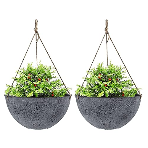 Large Hanging Planters for Outdoor Indoor Plants, Hanging Flower Pots with...