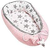 Solvera_Ltd - Cuna para bebé (2 caras, 100% algodón, 50 x 90 cm), color rosa