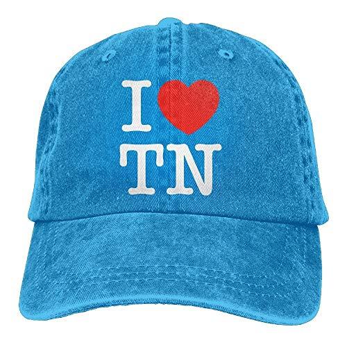 xinfub Unisex-Baseballmütze Garngefärbter Jeans-Hut I Love TN Tennessee Heart Einstellbarer Snapback-Sonnenhut Net red 6798