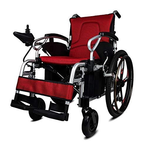 GNLIAN HUAHUA Silla de Ruedas eléctrica Precio económico Hospital de Aluminio Inteligente Plegable automático Potencia eléctrica para Personas con discapacidad al Aire Libre (Color : Battery 40Ah24V)