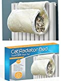 ADEPTNA Premium Strong Super Soft White Cosy Curled Cat Radiator <span class='highlight'>Bed</span> Tunnel Washable – Ideal <span class='highlight'>for</span> Cat Kitten Up to 6 -7 kgs
