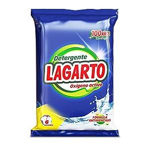 Lagarto Bolsa Detergente en Polvo para Lavadora, OXIGENO ACTIVO, 6 lavados.  Paquete de 20 x 456 gr – Total: 9120 gr