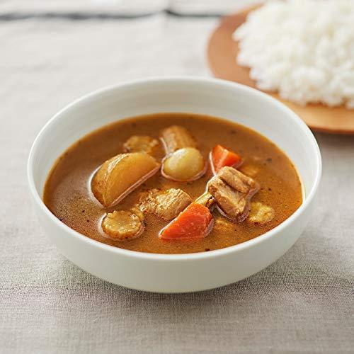 スープカレーのようにさらりとしたとろみのカレーです。ボウルによそってご飯を付けながら頂くのも良さそう。パンと組み合わせても相性が良さそうです。