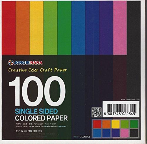 100 fogli di carta da origami stampati su un singolo lato