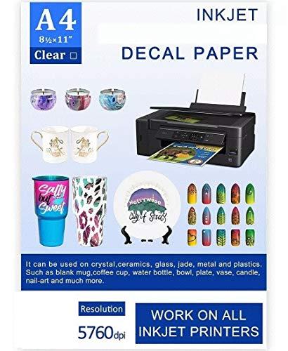 Papel Decal Modelismo Ceramica Tazas Uñas Water Transfer Paper Decal Paper Calcomania Deslisable al...