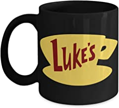 Lplpol Luke's Diner Gilmore Girls Gift Lukes Diner Taza Gilmore Chicas taza de regalo para la mejor amiga, cerámica, blanco, 0,3 l