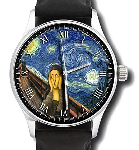 El último arte obra maestra reloj... 'Mona Lisa gritos en una noche estrellada' en serio.