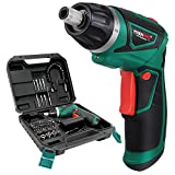 POSENPRO Cordless Screwdriver Rechargeable 7.2 Volt 1500mAh Li-ion Power Screw Guns with Twistable Handle & 48 Piece Drill and Screw Accessories,BMC Packing