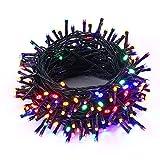 NEXVIN Luces de Arbol de Navidad, Guirnalda Luces 25M 200 LED, Cadena de Luces Colores con 8 modelos de lluminación, Luces de Navidad Decoración para Jardín, Casa, Fiesta, Boda